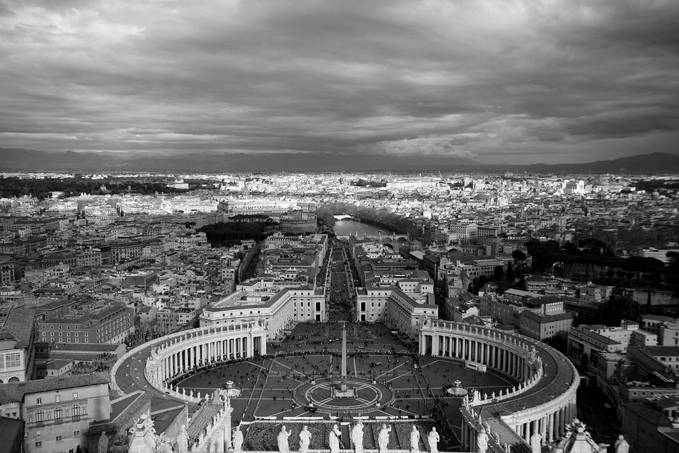 Piazza San Pietro, Vaticano, Roman, Italy, Roma, Plaza