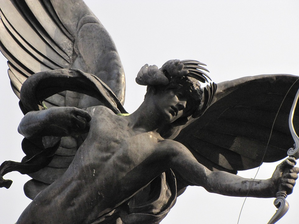 Statue, Eros, Piccadilly, London, City, Monument