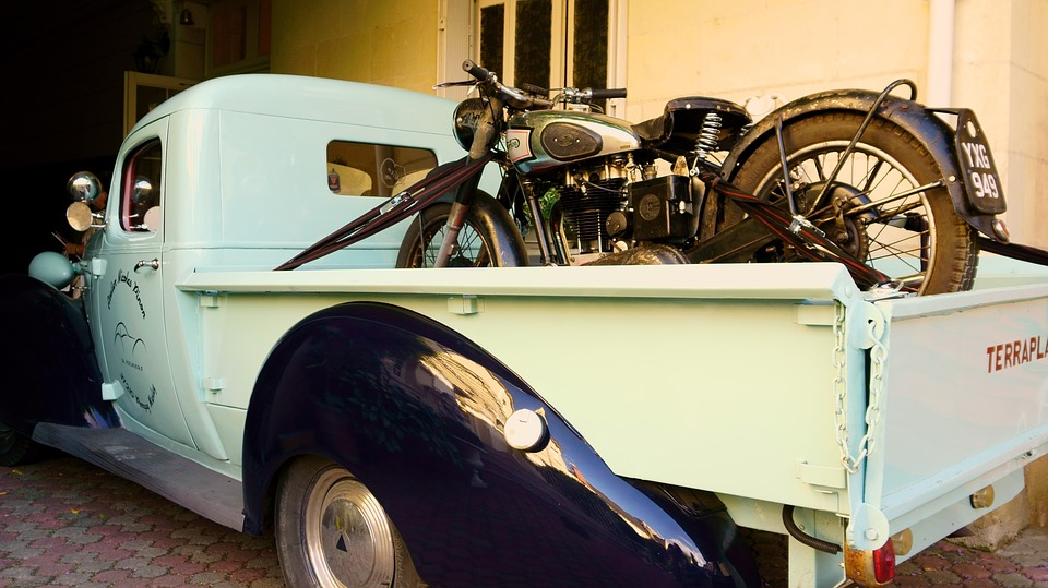 Free photo Pick Up Motorcycle Old Old Car - Max Pixel