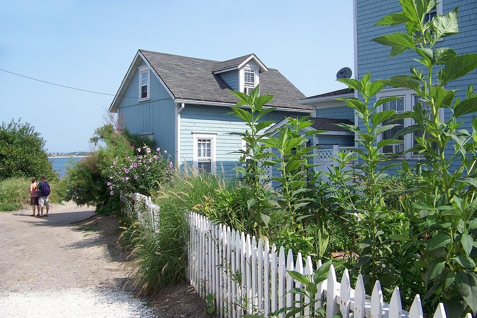 Beach House, Beach, Picket Fence, Rhode Island