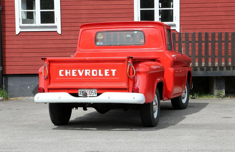 Pickup, Car, Red, Chevrolet