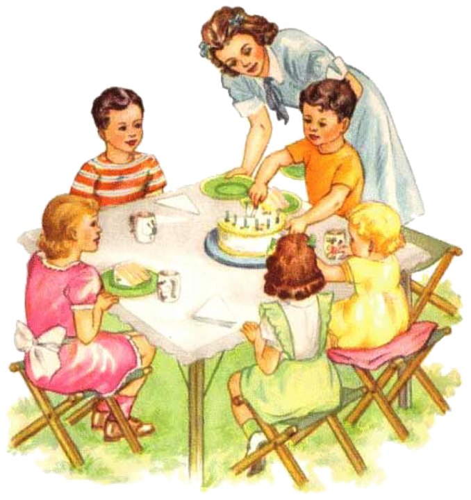 Vintage, Picnic, Children, Birthday, Party