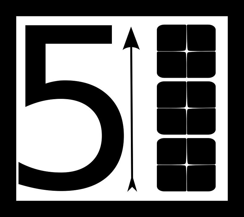 Arrow, Block, Number, Digit, Digital, Pictogram