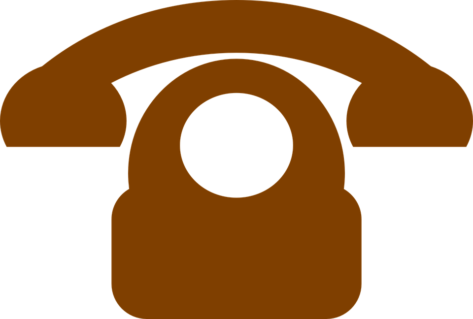 Telephone, Pictogram, Dial Plate, Brown, Communication