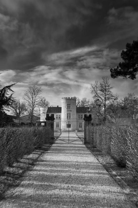 Castle, Monochrome, Picture, Architecture, Building