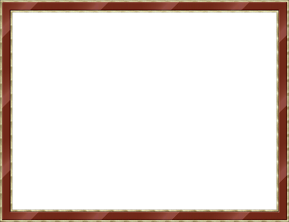 Frame, Outline, Picture Frame, Brown, Gold, Isolated
