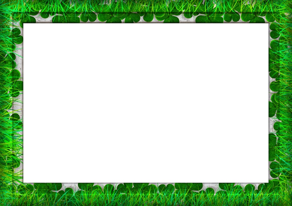 Frame, Picture Frame, Outline, Corners, Grain, Grass