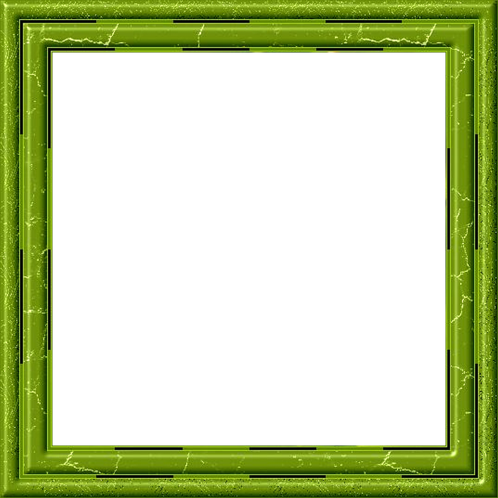 Frame, Picture Frame, Outline, Green, Isolated, Pattern