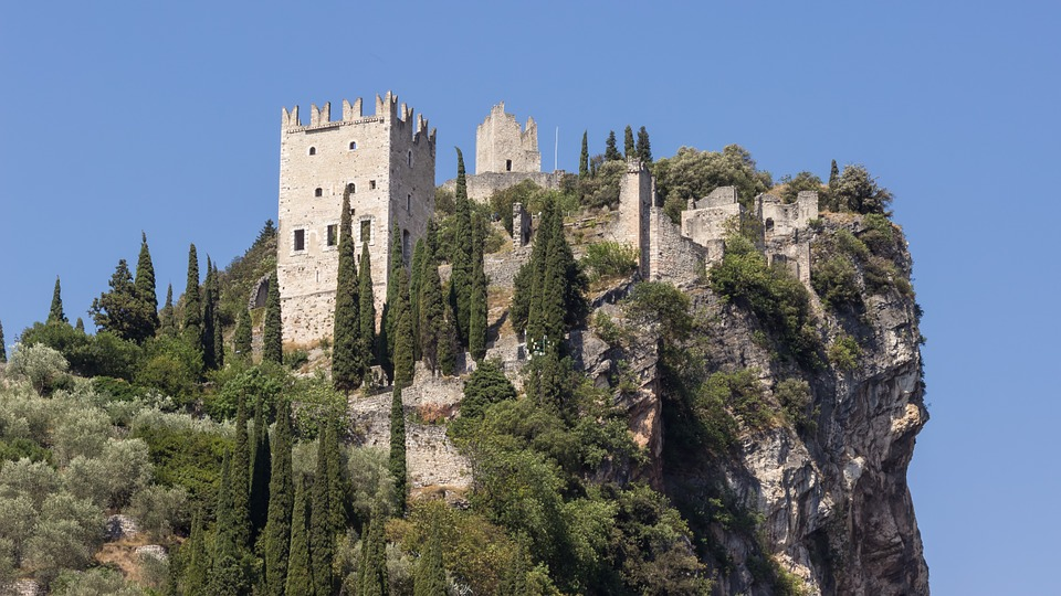 Castle, Mountain, Fortress, Picturesque, Arco, Italy