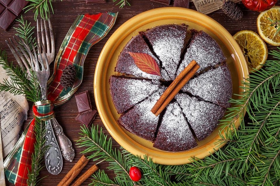 Cake, Pie, Christmas Cake, Food, Sweets, Sponge Cake