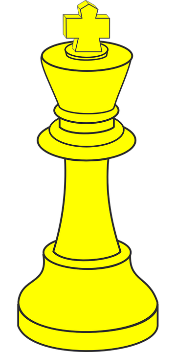 King, Chess, Piece, Yellow, Gold, Figure