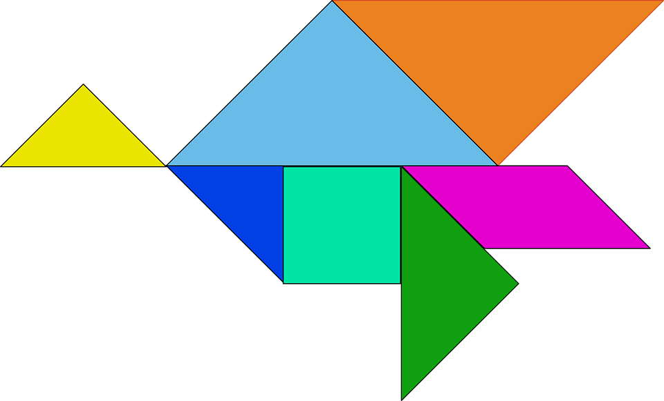 Shapes, Puzzle, Chinese, Tangram, Game, Pieces, Seven