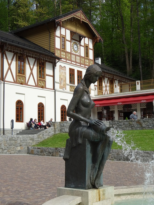 City Szczawnica, Pieniny, Malopolska, Fountain, Water