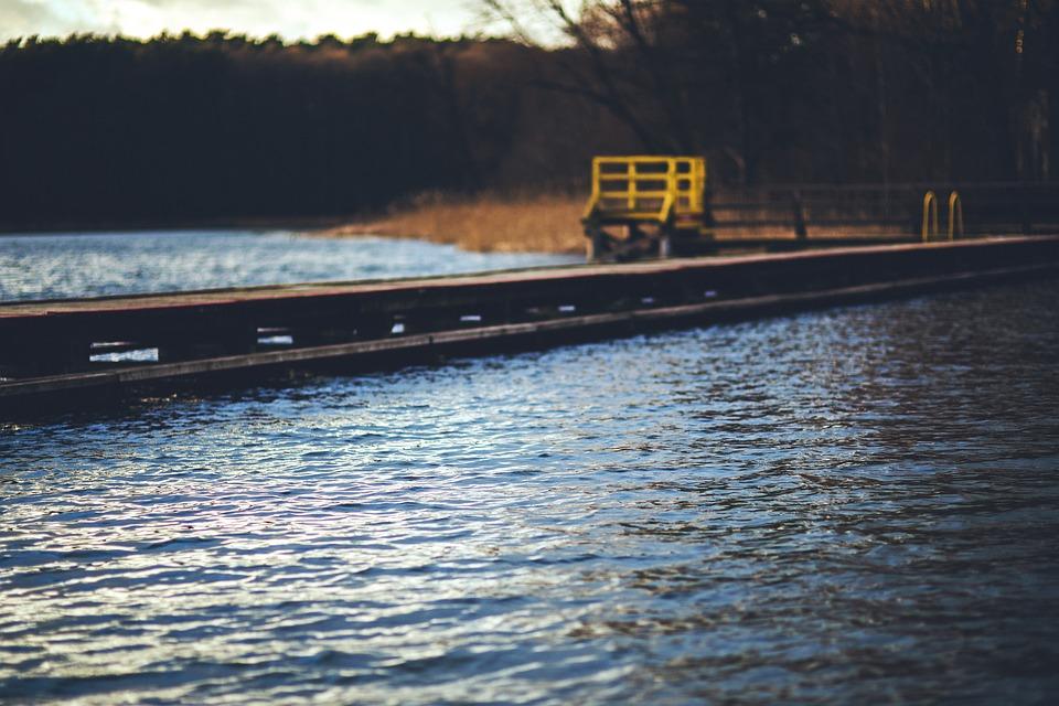 Lake, Pier, Old, Vintage, Wood, Wooden, Empty, Water