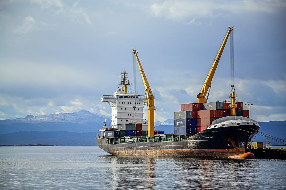 Ship, Cranes, Loading, Dock, Port, Pier, Machinery