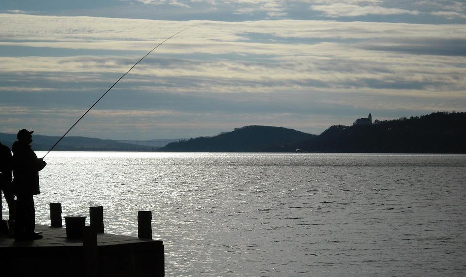 Lake Balaton, Tihany, Balatonfüred, Pier, Angler, Light