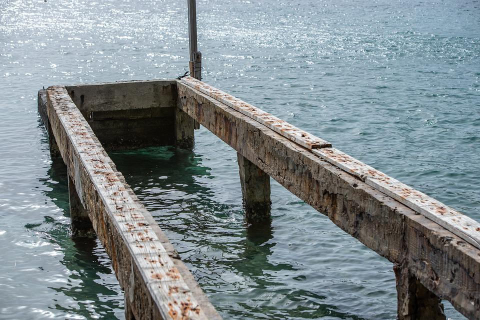 Pier, Ocean, Water, Tropics