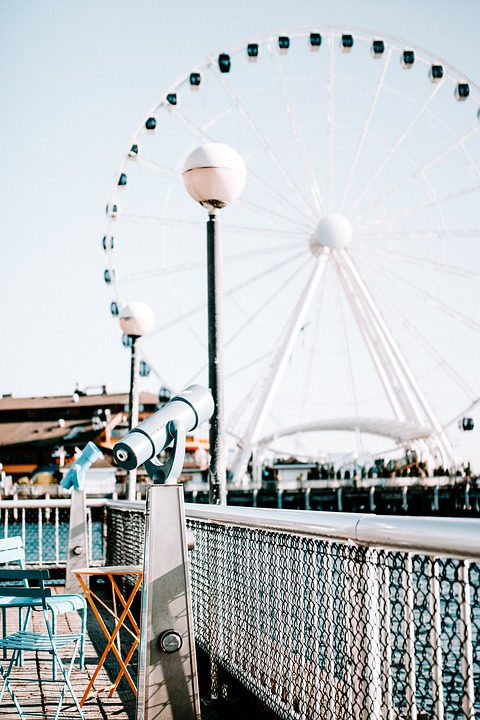 Telescope, Waterfront, Pier, Seattle, Washington