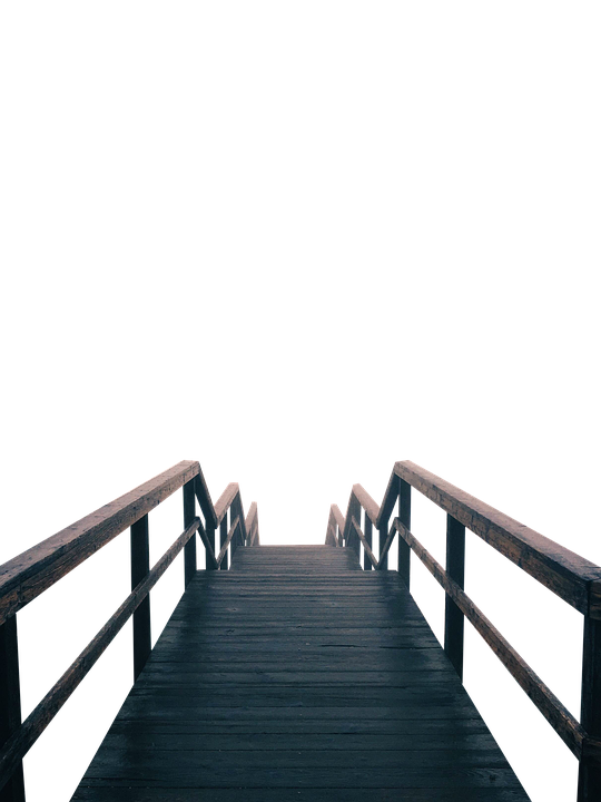 Isolated, Transparent, Pier, Bridge, Wooden, Wood