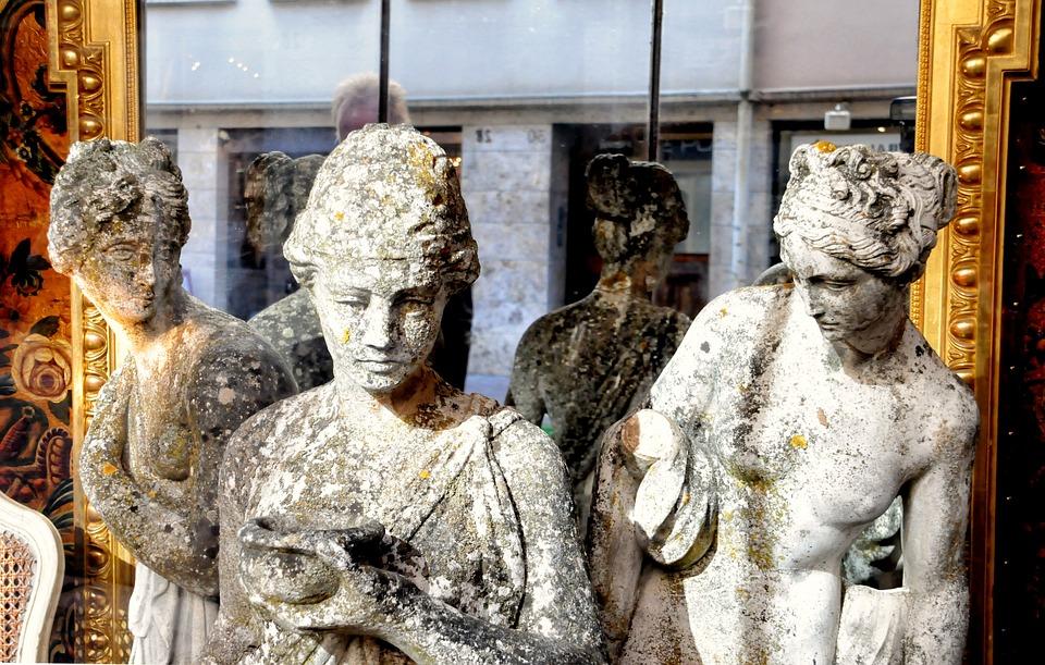 Statues, Antique, Pierre, Antique Dealer, Former