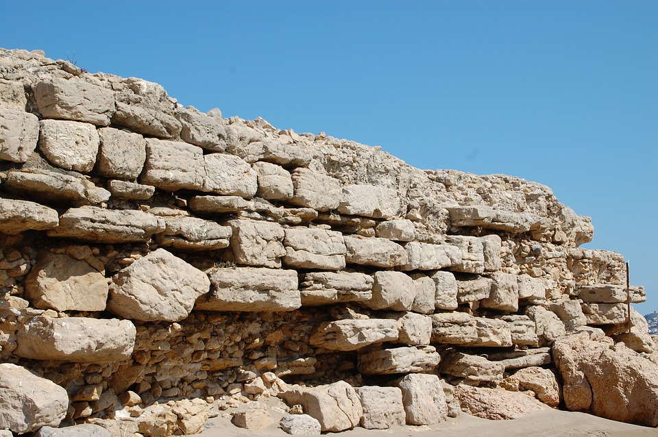 Wall, Greek Wall, Antique, Former, Pierre, Archaeology