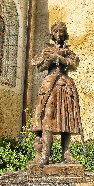 Jeanne, Statue, Symbolism, Pierrefitte On Sauldre