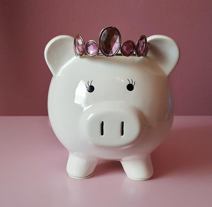 Piggy Bank, Pig, Piggy, Pink, Savings, Save, Money