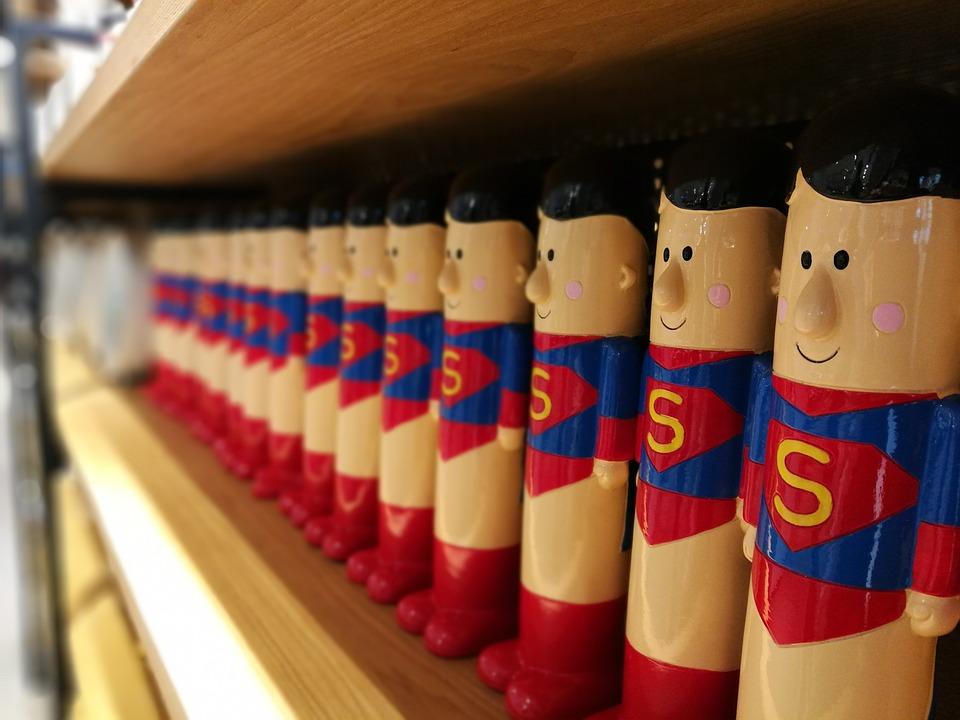 Toys, Superman, Piggy Bank