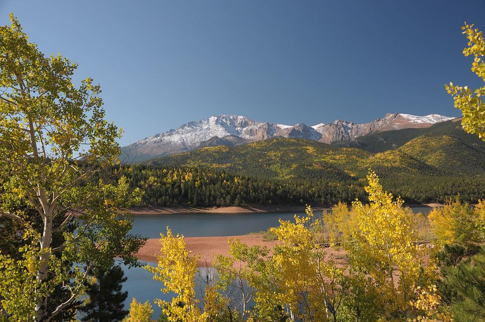 Pikes Peak Highway, Colorado, Fall, Aspen, Mountains