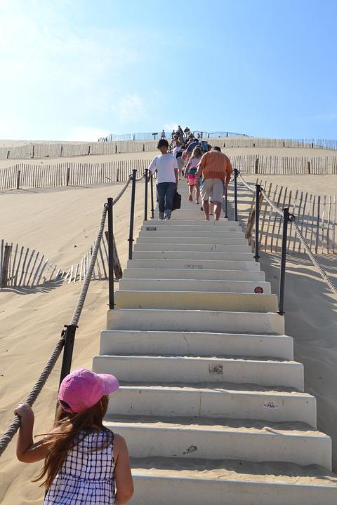 Dune, Pilat Dune, Pyla Dune, Staircase, Sand, Aquitaine