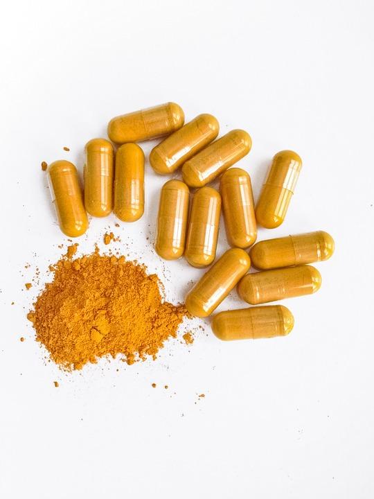 Turmeric, Curcumin, Food, Spice, Pile, White, Golden