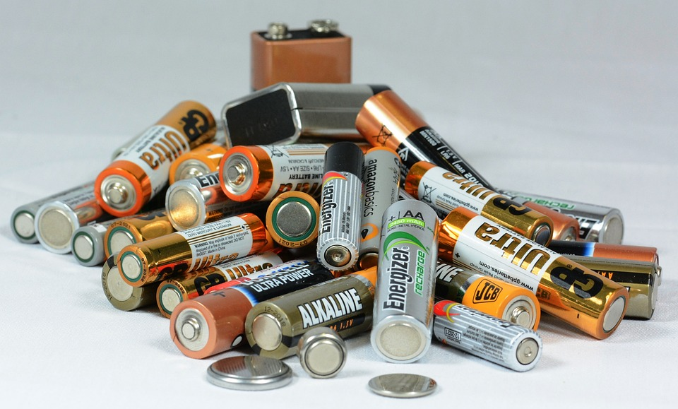 Batteries, Mixed, Pile