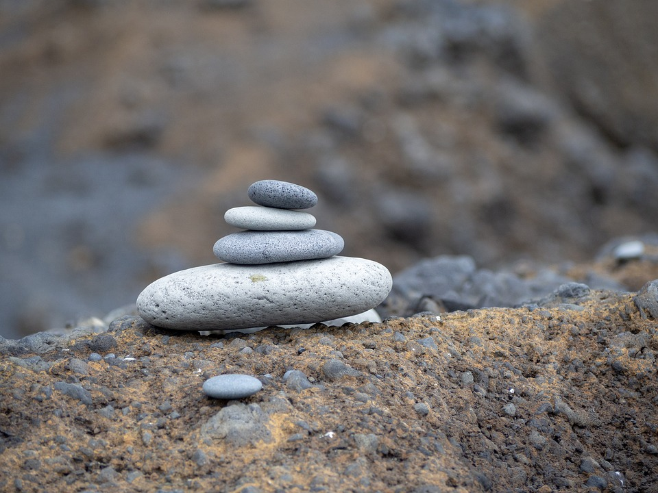 Zen Stack Of Stones, Pile Of Stones, Stones On A Rock
