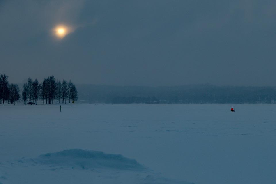 Pilkkijä, Ice, Landscape, Snow, Nature, Winter, Lake