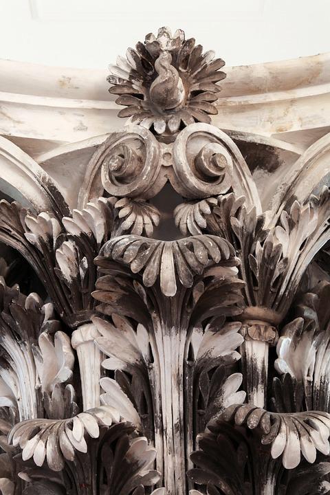 Pillar Detail, Monumental, Roman, Monument