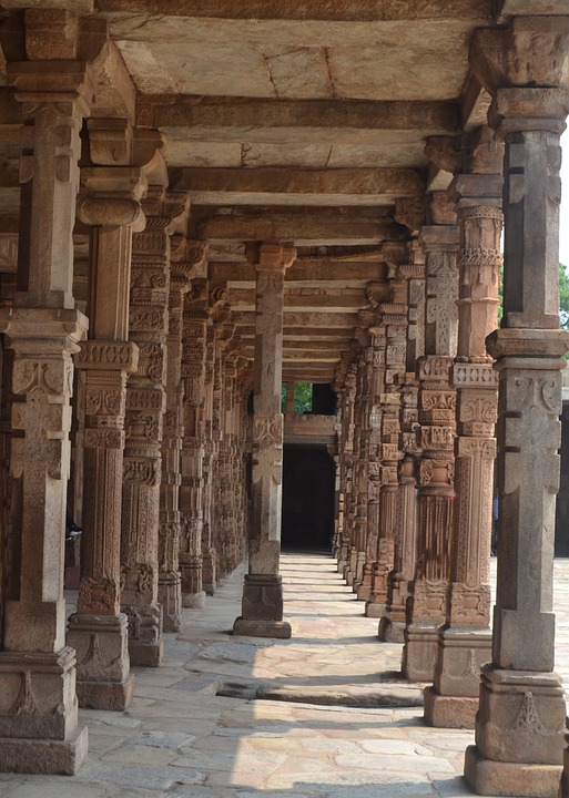Old Pillars Of Stone, Stone Pillar, Pillar