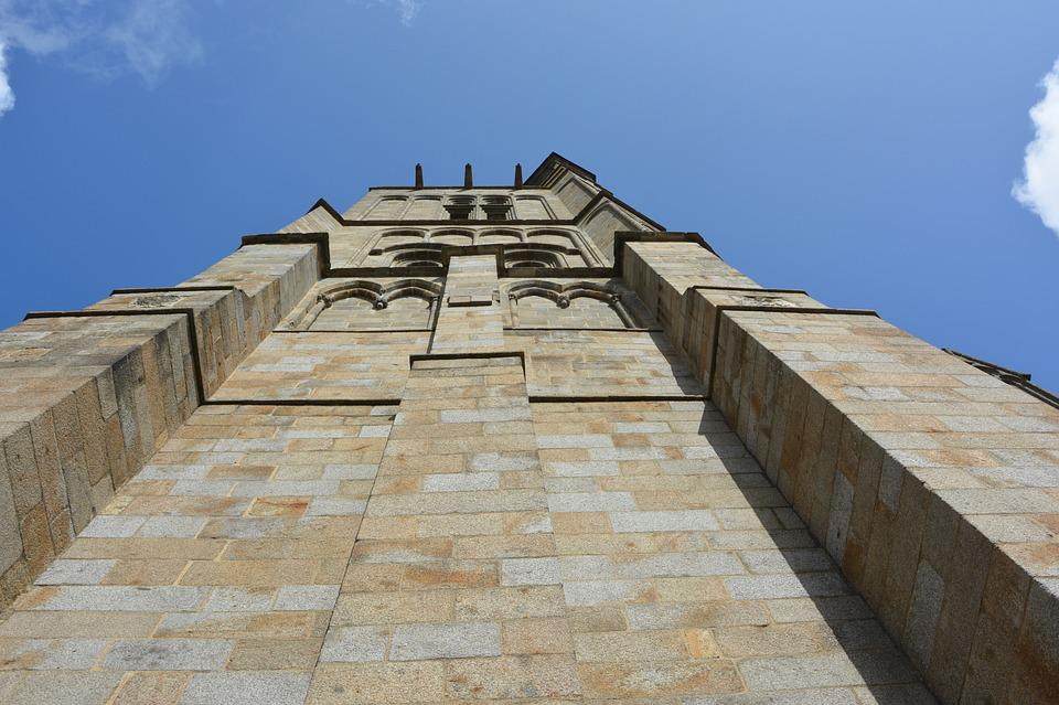 Wall Cathedral, Pillar, Tower, Stones