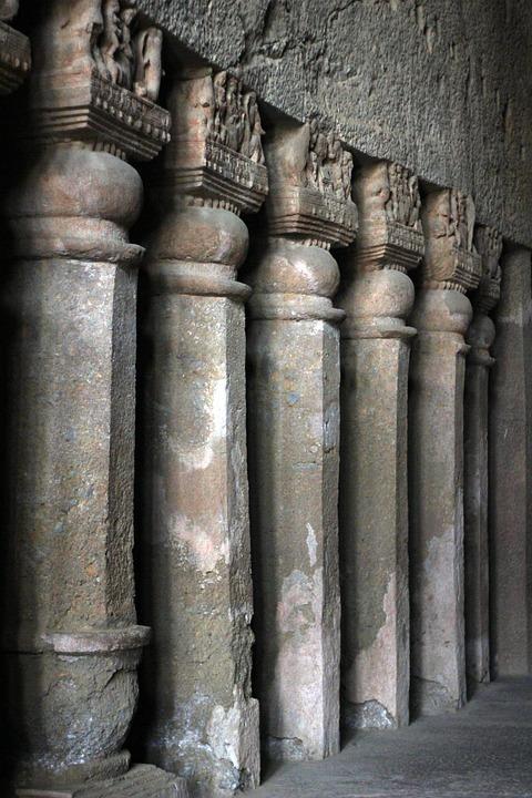 Karla Caves, Cave, Pillars, India