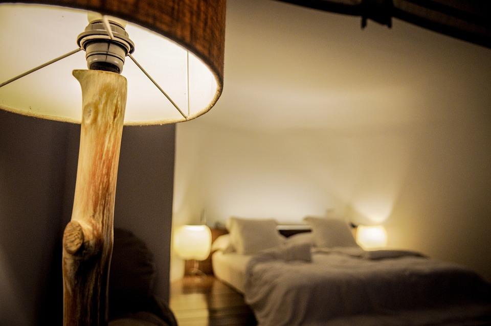 Bedroom, Lamp, Night, Sleep, Room, Light, Pillow