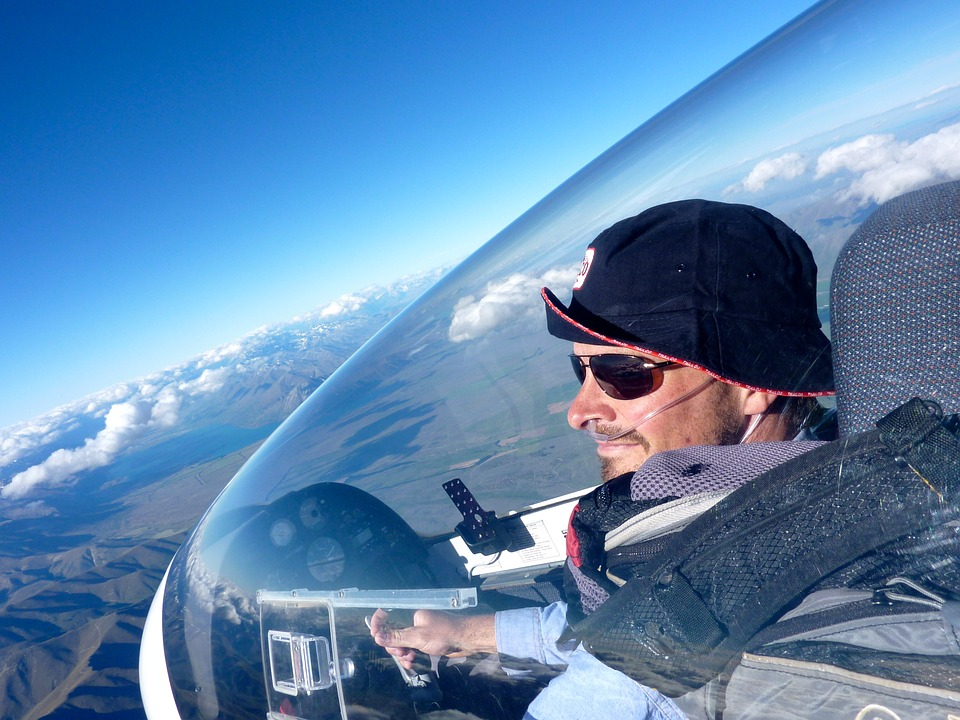 Pilot, Gliding, View, Flying, Cockpit