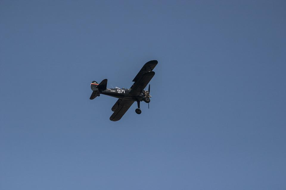 Pilot, Airplane, Boeing-stearman, N62ts, Show, Sky