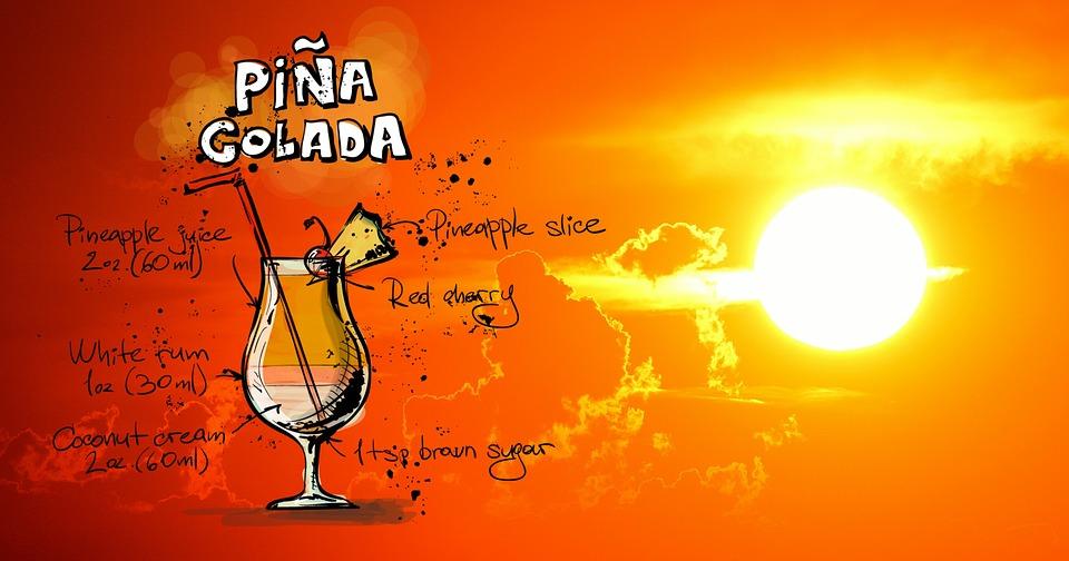 Pina Colada, Cocktail, Sunset, Drink, Alcohol, Recipe