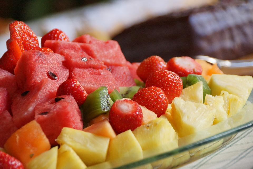 Fruit, Watermelon, Kiwi, Strawberries, Pineapple, Vegan