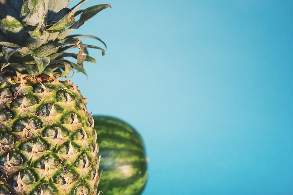 Pineapple, Melon, Fruit, Fresh, Freshness, Sweet