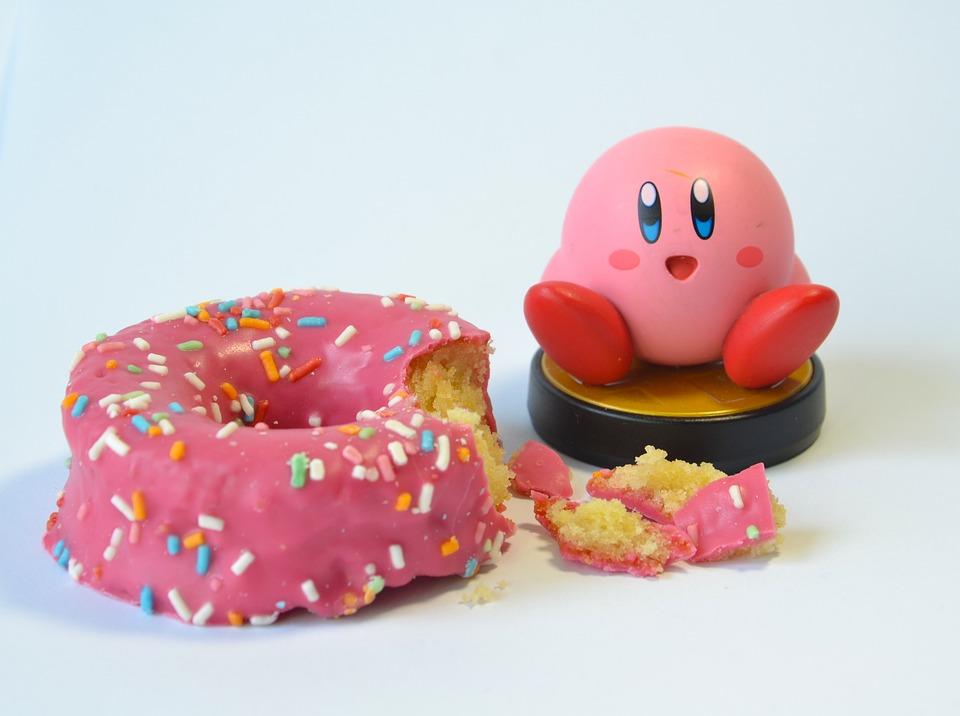Pink, Rosa, Donuts, Amiibo, Kirby
