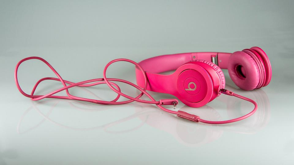 Headphones, To Listen To The, Music, Pink, Cable