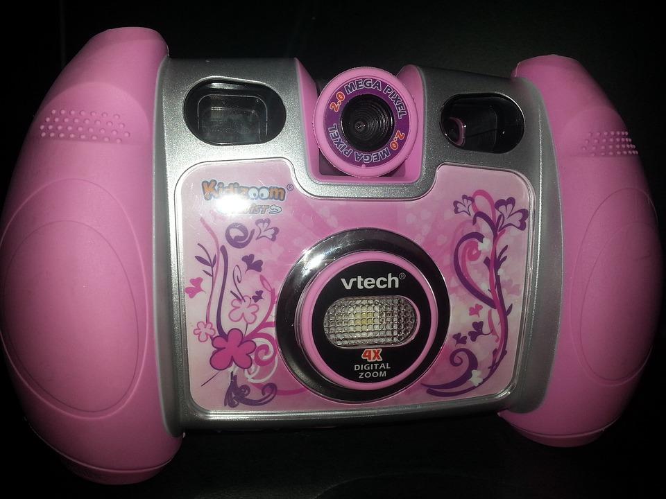 Toys, Children, Camera, Pink