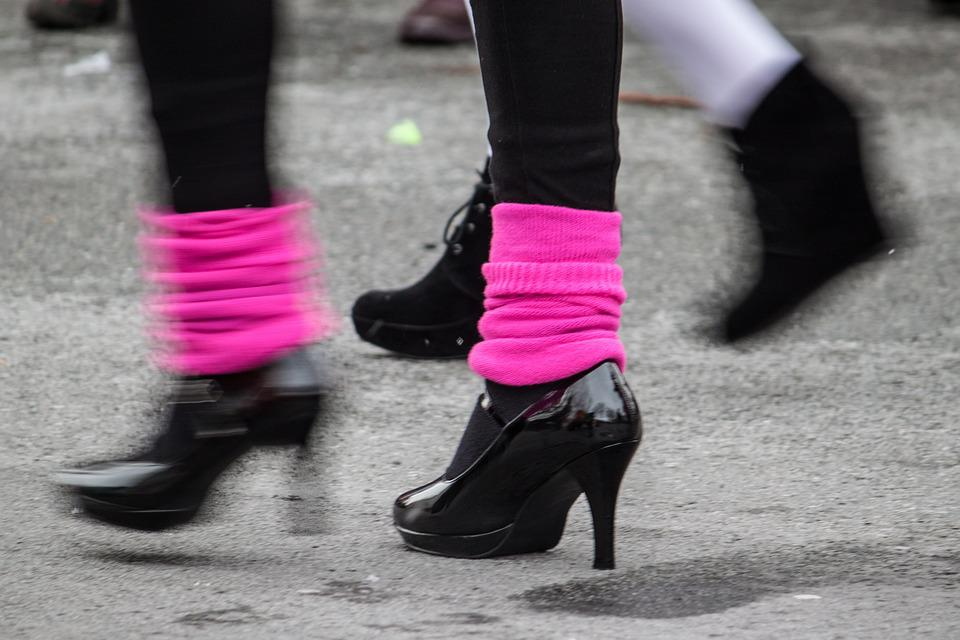 Carnival, Pumps, Leg Warmers, Pink