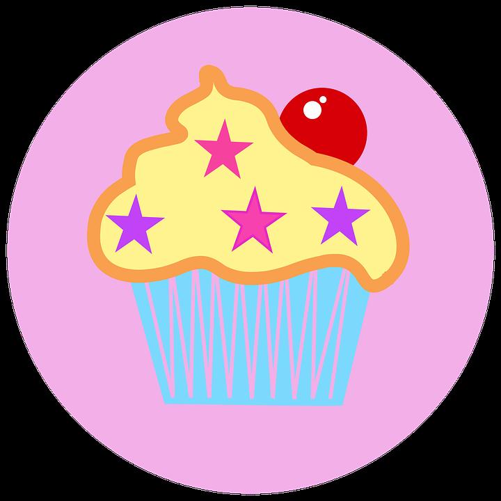 Cupcake, Cake, Cherry, Cute, Pink, Logo, Sweet, Cream