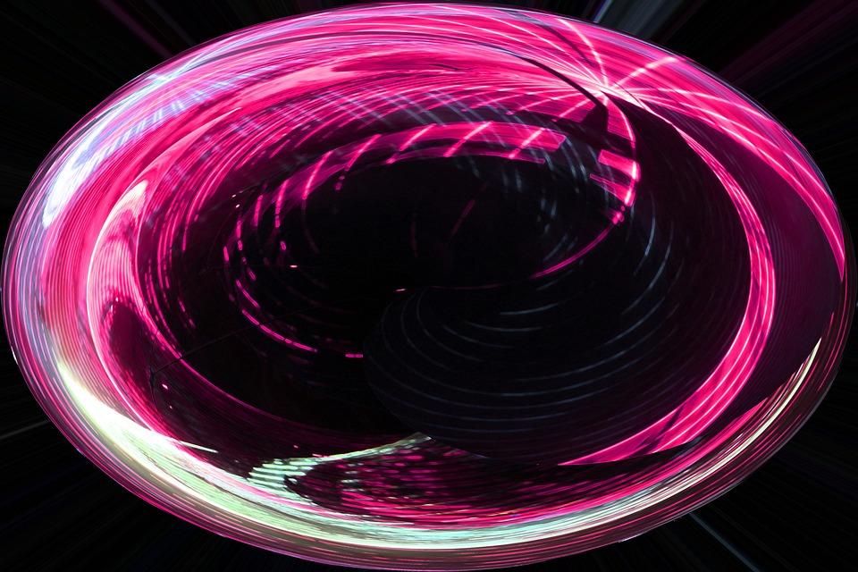 Violet, Pink, District, Lights, Reflection, Modern